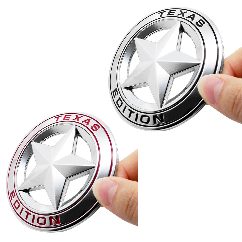 Hot Sale Car Accessories 3d Emblem Badge Texas Star Car Sticker For