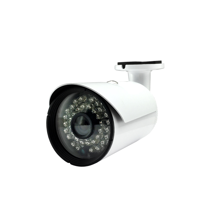 ФОТО Audio POE HD 720P 1.0MP IP bullet Camera onvif 2.1 Network Outdoor Security 36pcs leds night vision White Metal Weatherproof