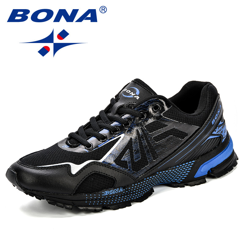 BONA Fashion Men Outdoor Sports Shoes All match Breathable Comfy Male Running Jogging Shoes Casual Autumn