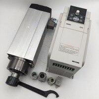 3.5KW Air-cooled ER25 Spindle Motor AC380V 18000rpm Air-cooling & 4.5KW 3phase 380V VFD Inverter Kit