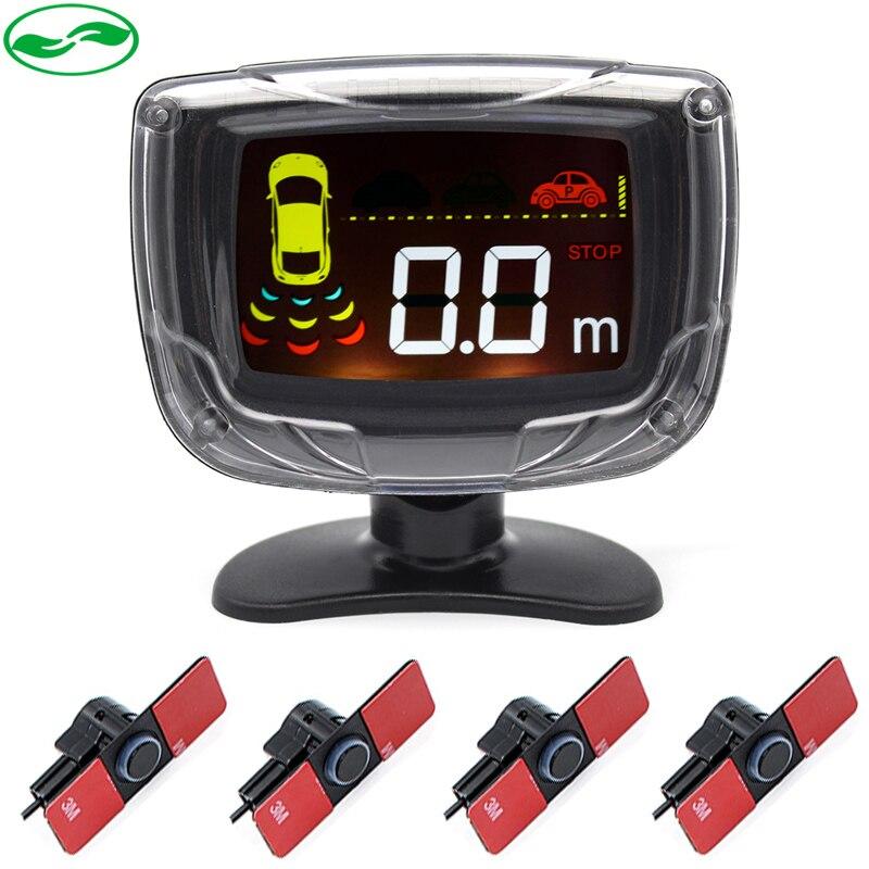 16 мм оригинальный плоский Сенсор s автомобиля ЖК-дисплей Подсветка Дисплей автопарк Сенсор с зуммером оповещения радар размещения детектор 6 цветов
