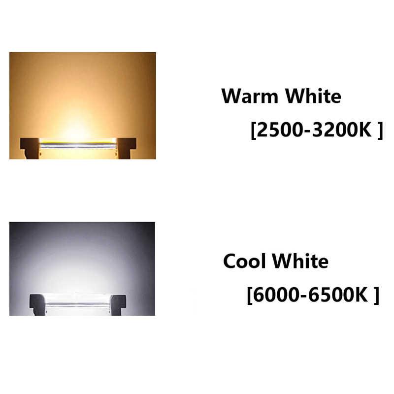 Dernières ampoules led cob r7s 78mm 4W r7s 118mm 8W AC220-240V à intensité variable remplacer lampe halogène 13mm diamètre tube de verre r7s