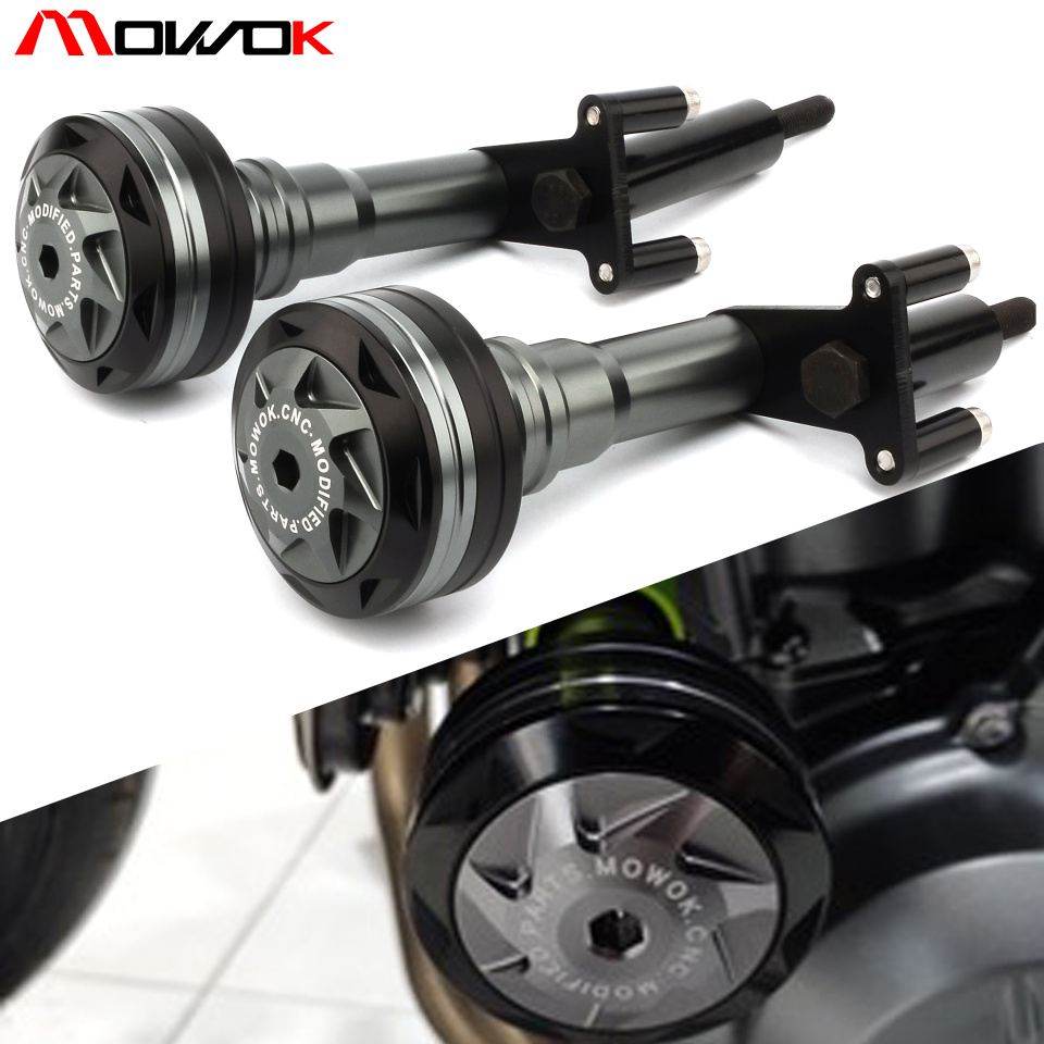 With logo Motorcycle CNC high quality Frame Sliders Crash Protector Guard For KAWASAKI NINJA400 ninja 400