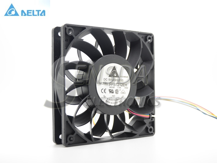 For Delta Ffb1212eh 12v 1.74a 12cm 1225 12025 12*12*2.5CM  120*120*25MM  Dual Ball Cooling Fan