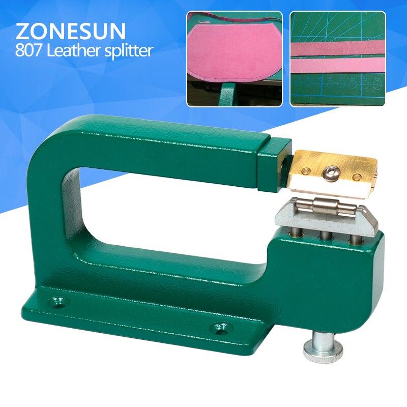 ZONESUN handmade leather edge strips strap skiving cutting processing splitting machine peel tool the cutting edge