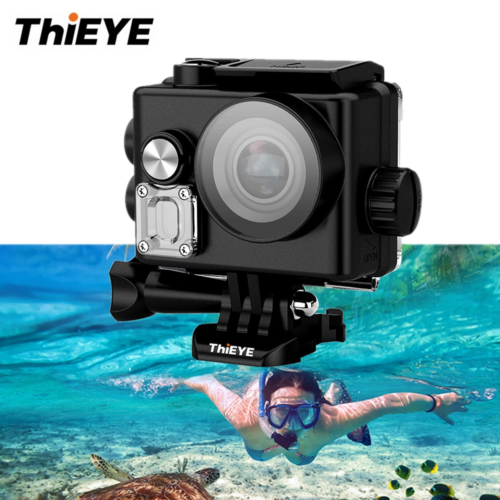 ThiEYE T3 Sports Action Camera 4K 24FPS WiFi 2.0 inch 40m Waterproof Cam IP67 NTK96660 170 Degrees Wide Angle Underwater Camera