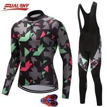 2019 Team FUALRNY Long sleeve Ropa Ciclismo Cycling Jersey sets 9D gel/Autumn Mountian Bicycle Clothing/MTB Bike Clothes For Man цены