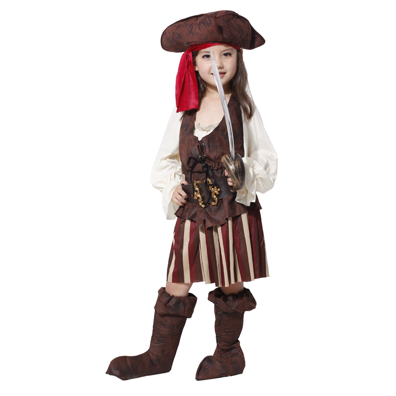 Halloween Kids Children Girls Pirate Costume Cosplay Luxury Costumes Set  Girl Halloween Costumes  In Girls Costumes From Novelty U0026 Special Use On ...