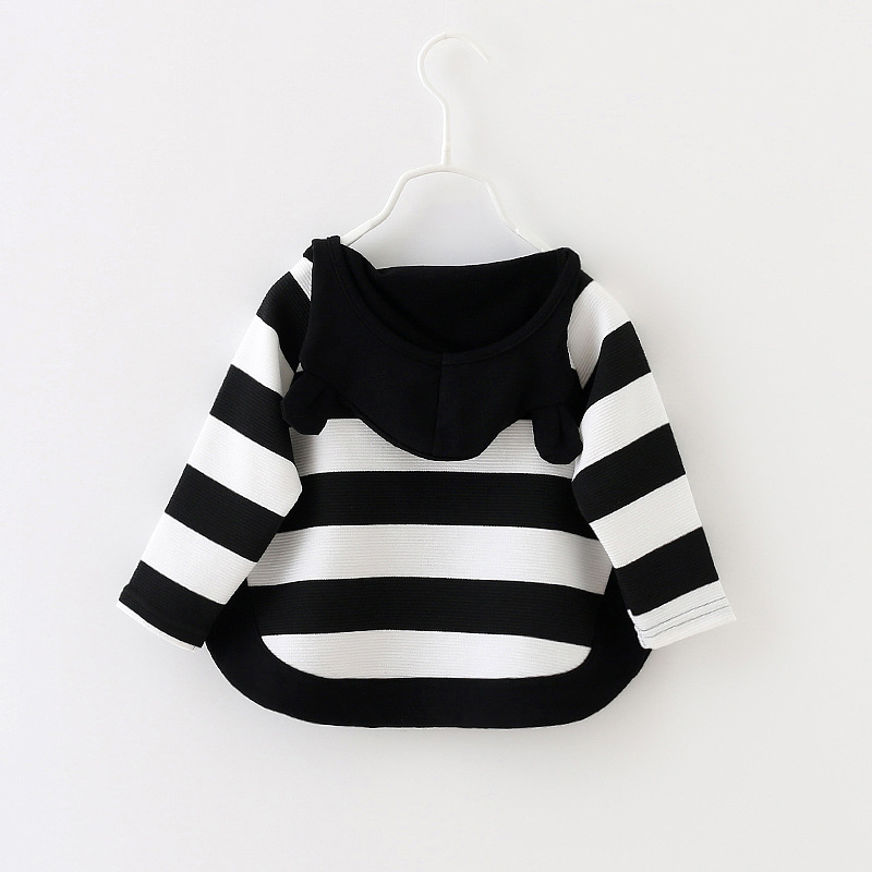 2017-autumn-children-Baby-new-casual-long-sleeve-striped-cartoon-hooded-cotton-Sweatshirt-for-Girls-1-3-Years-1