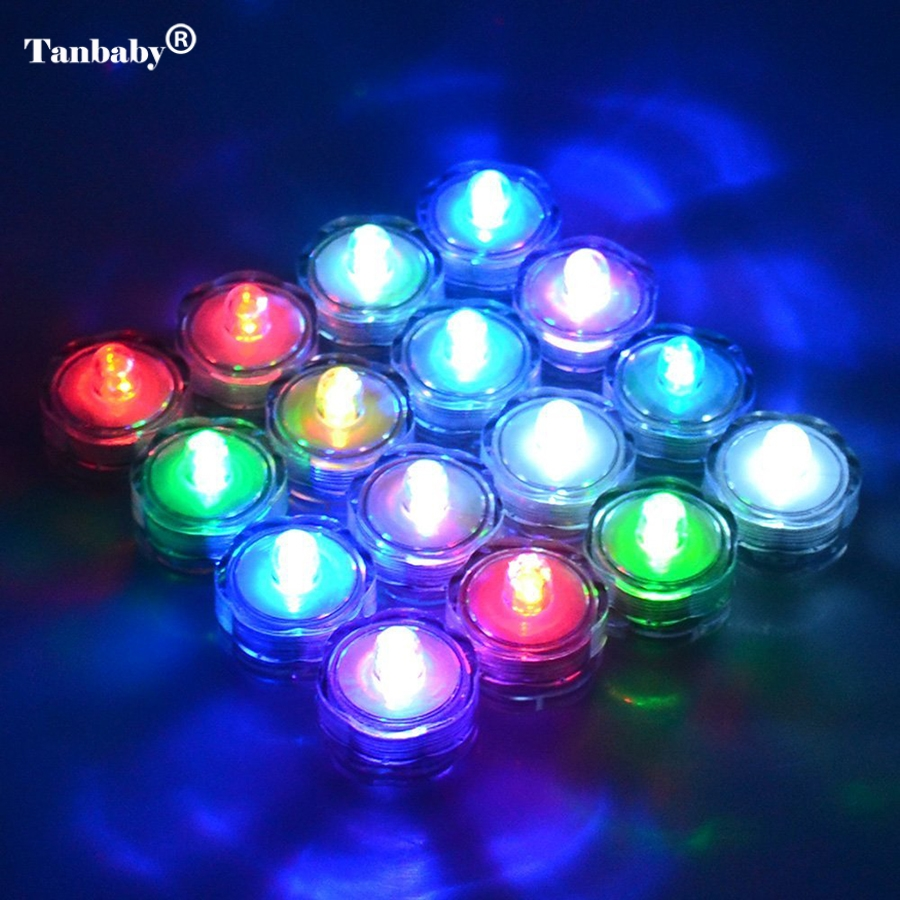 Tanbaby Waterproof Led Submersible Light 10pcs/lot Wedding LED Candle Sub Tea Light for Decoration Wedding Party Bar Xmas