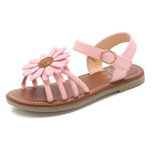 COZULMA Girls Summer Roman Shoes Baby Kids Sandals for PU Leather Sun Flowers  Princess 1-12 Years