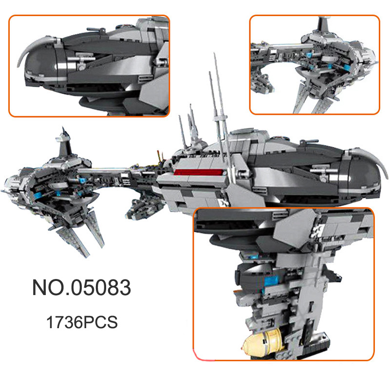 Lepin Building Blocks Star Series War MOC The Nebulon Model B Medical Frigate 1736pcs Education Toys For Children Gifts 05083 rollercoasters the war of the worlds