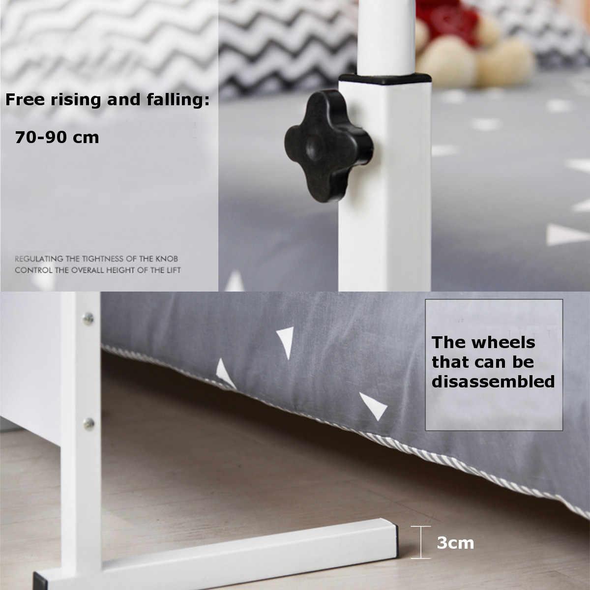 Escritorio plegable de 70-90 cm para ordenador portátil con rodillo para ordenador portátil mesa de aprendizaje para estudiantes bandeja de cama móvil Oficina hogar ventilación soporte