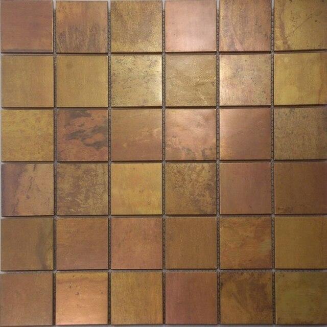 Latón puro cobre backsplash mosaico mejora casa del azulejo ...