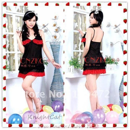 EMS Free Shipping Sexy Lingerie Women See Through Underwear Thong Dress Red Rose Vintage Red Latin EMS Free Xmas 5PCS XZA415