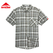 ROYALWAY Camping HikingShirts Quick Dry Breathable Checked#RIM7101BS