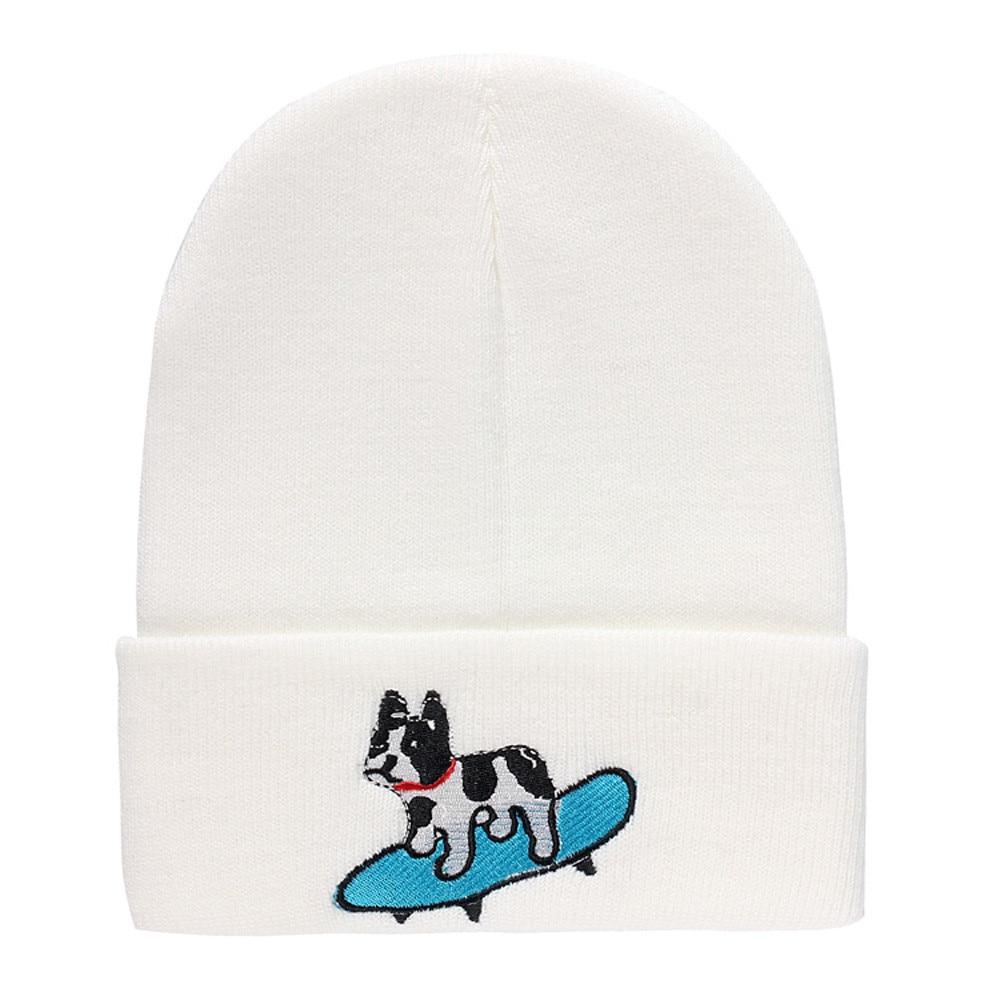 a7cd0604a59 Women s Winter Hats Knitted Wool Skullies Hat Women Men Dog print Pattern  Knitted Hip Hop Warm Baggy Bonnet Beanie Hat for girl-in Skullies   Beanies  from ...