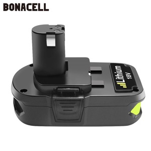 Image 3 - Bonacell 18V 3000mAh P107 Batterie Ersatz für Ryobi P104 P105 P102 P103 P107 Cordless Li Ion Batterie L50