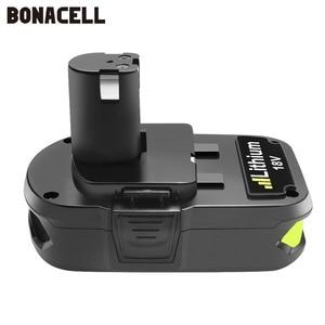 Image 3 - Bonacell Batteria di Ricambio per Ryobi 18V 3000mAh P107 P104 P105 P102 P103 P107 Cordless Li Ion Batteria L50