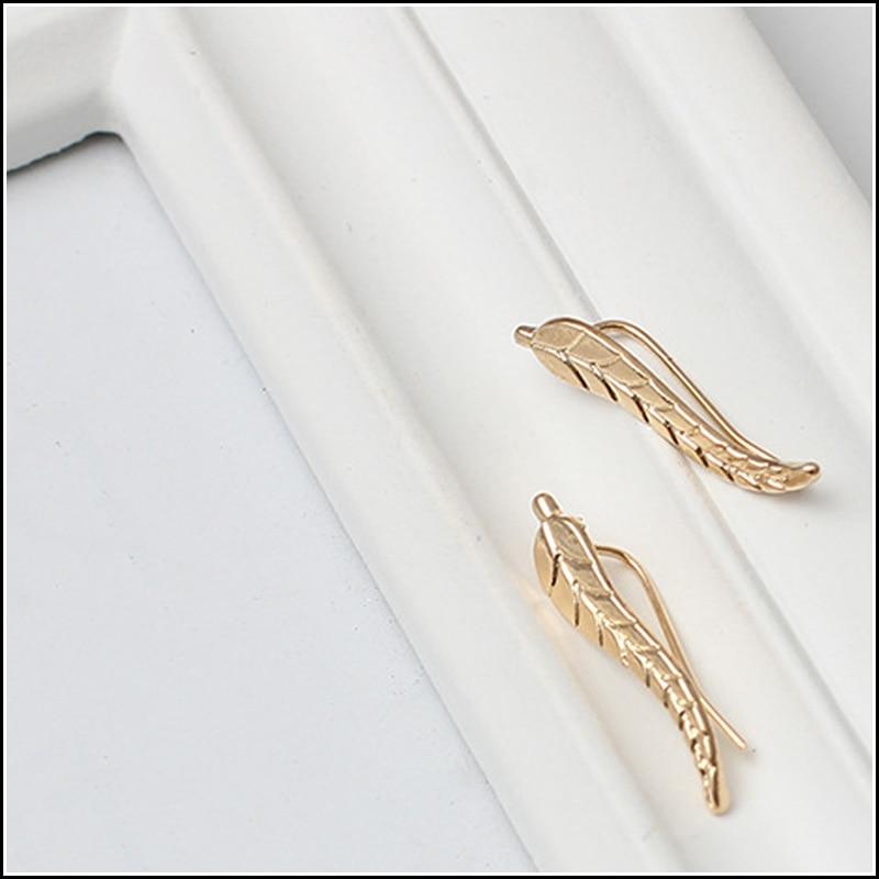 12ad76051710 OFERTA ESPECIAL nueva planta orecchini moda joyería hoja oído escalador  clip Pendientes de broche en forma de U fundido textued estilo punky
