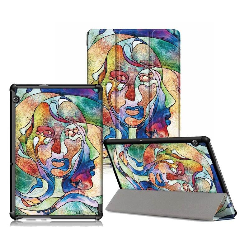 Good Quality Print PU Cover For Huawei Mediapad T5 10 10 1inch Slim Folio Leather Case
