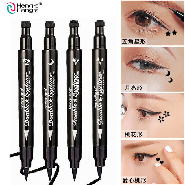 Double head black long Eyeliner Waterproof and anti sweat dry eye liner makeup