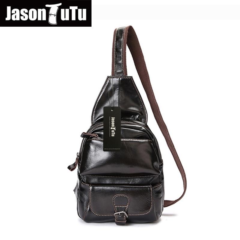 ФОТО JASON TUTU Genuine Leather men messenger bags Brand design men bag Leisure chest pack bag men Chest pack HN52