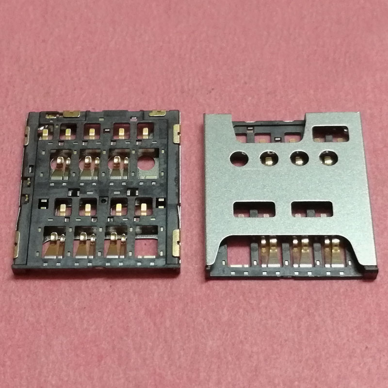 10pcs SIM Card Reader Slot tray Holder Connector for ZTE Grand S II LTE A/B2015 Q801L Q801U Q2S-T Q2S-C S291 S521 Q802T/D/C plug
