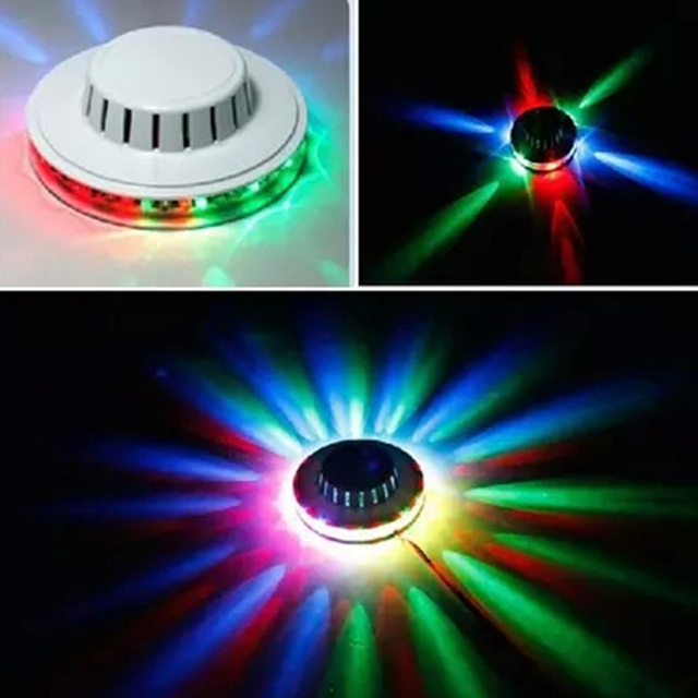 Mini RGB LED Sunflower Flying Saucer Stage Light Stage Lighting Effect Disco  Ball Lamps for KTV