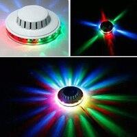 Mini RGB LED Sunflower Flying Saucer Stage Light Stage Lighting Effect Disco Ball Lamps For KTV