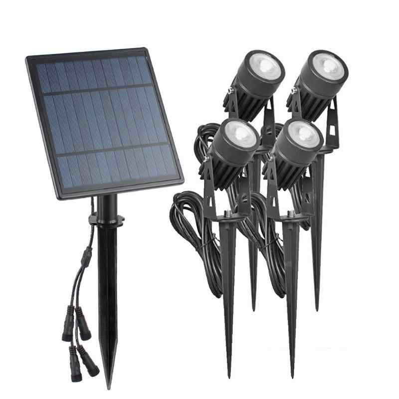 4 Вт Солнечный Спайк точечные светильники открытый сад Газон Led шт. Прожекторы + 1