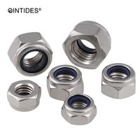 QINTIDES M24 M36 Prevailing Torque Type Hexagon Thin Nuts With Non Metallic Insert 304 Stainless Steel