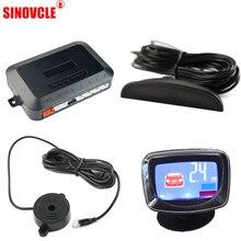 SINOVCLE автомобильный парковочный датчик, компоненты, блок управления/зуммер/светодиодный/ЖК-дисплей для обратного резервного радара, индикатор звукового оповещения