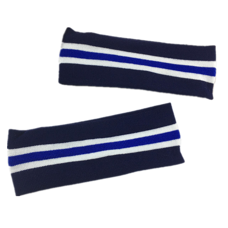 2Pcs/lot Navy Blue Stirped Elastic Headband Women Men Sports Fitness Yoga Hairbands Wash Daily Spring Summer Hair Accessories
