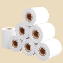 Утолщенная 4 рулона/лот термальная бумага 57x50 мм Высокое качество Чековая бумага POS Чековая бумага рулон бизнес-компания поставки