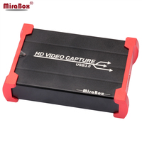 MiraBox Full HD USB3.0 1080 P HDMI Карта видеозахвата стандартная коробка для Windows/Linux/Mac HDMI захвата ключ для USB UVC UAC