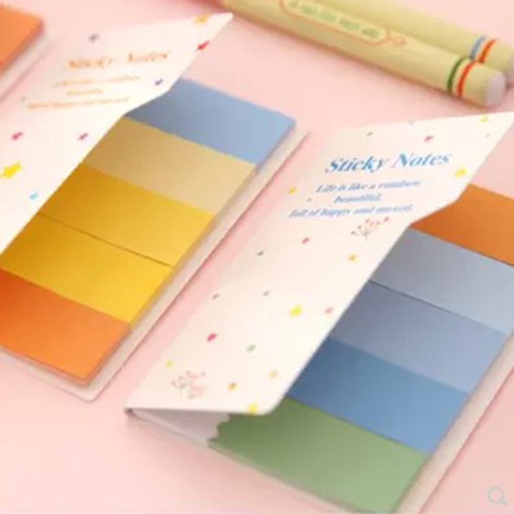 2 Book Fashion Hot Cute Bookmark Marker Flags Index Tab Sticky Fresh Rainbow Mini Sticker Notes New (Size: 7.7*5cm)