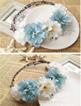 New arrival romantic flower head garland Wreath hairwear bridal girl kid wedding party flower hairbands free shipping