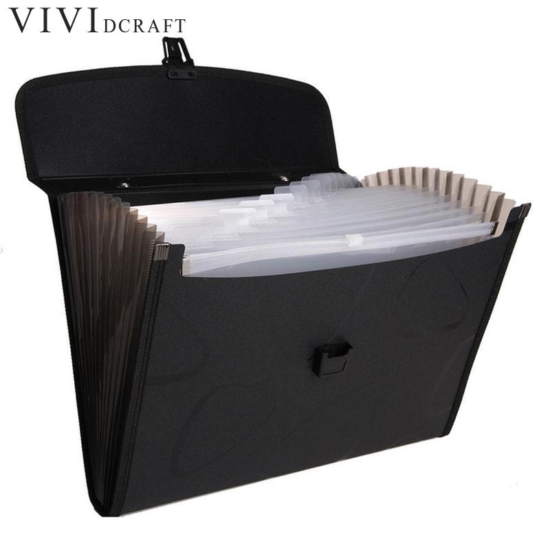 Vividcraft Business Book A4 Paper File Folder Bag Office Stationery Design Waterproof Document Folder Rectangle Office Supplies deli a4 file folder for documents office stationery supplies pp folder data book folder 80 pages a4 clip business folder
