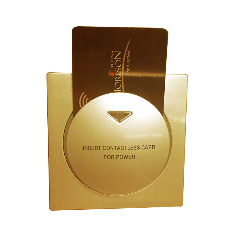 Security & Protection Round Gold Switch T57 125khz Power Switch Insert Hotel Key Card To Take Energy Guest Keycard Holder Wall Reader Promix Rfid
