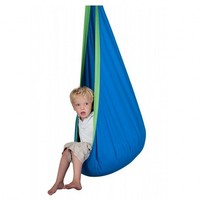 Hot Sale Baby Swing Child Hanging Seat Chair Cotton Fabric PVC Inflatable Cushion Garden Outdoor Hammock