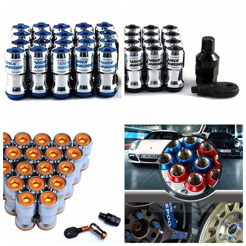 ФОТО Anti-theft Authentic Formula Wheels Lock Lug Nuts M12X1.5 Acorn Rim Closed With Security Key Adapters for Honda/Hyundai/Ford