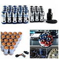 Anti-theft Authentic Formula Wheels Lock Lug Nuts M12X1.5 Acorn Rim Closed With Security Key Adapters for Honda/Hyundai/Ford