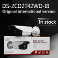 In stock DS-2CD2T42WD-I8 English version 4MP EXIR Network Bullet IP security Camera POE, 80m IR, 120dB Wide Dynamic Range