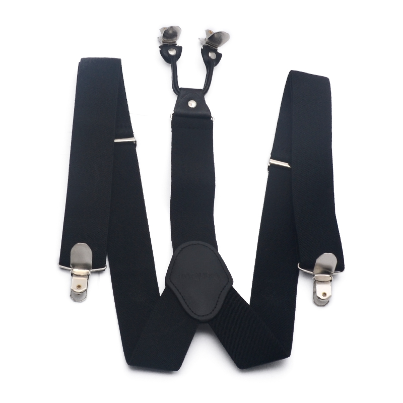 Popular Casual Suspenders Men Solid Color Y-Shaped Clip-On Suspenders Adjustable Stretch Belt Business Mens Braces for Trousers