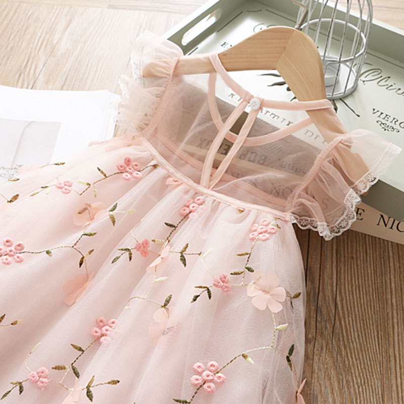 HTB11jd3RVYqK1RjSZLeq6zXppXaz Cute Girls Dress 2019 New Summer Girls Clothes Flower Princess Dress Children Summer Clothes Baby Girls Dress Casual Wear 3 8Y