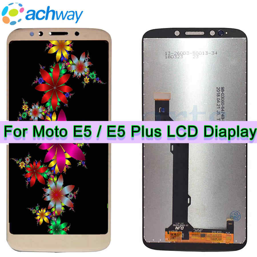 "100% Test 6.0""Display For Motorola MOTO E5 Plus LCD XT1924 LCD Touch Screen Digitizer Assembly 5.0""For MOTO E5 LCD XT1922 Screen"