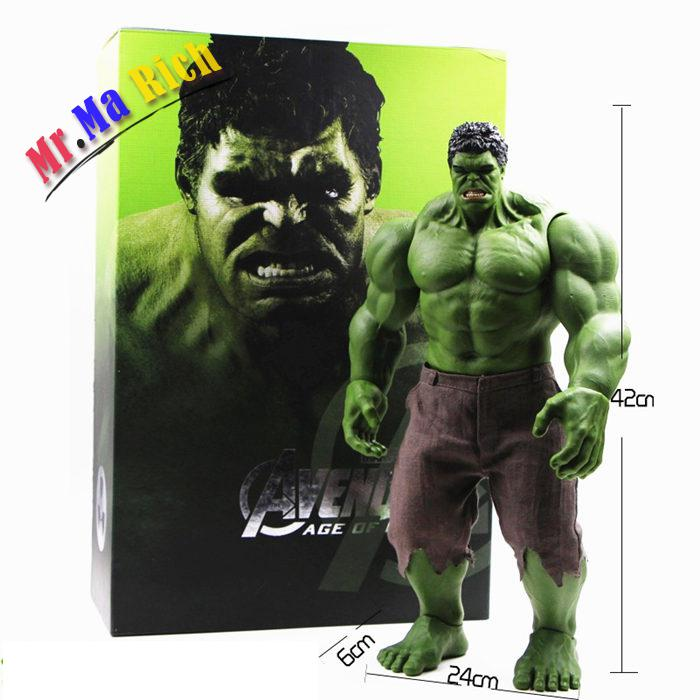 Hot Vendicatori Incredible Hulk Iron Man Hulk Buster Age Of Ultron Hulkbuster 42 Cm Pvc Giocattoli Action Figure Hulk Smash xinduplan marvel shield iron man avengers age of ultron mk45 limited edition human face movable action figure 30cm model 0778