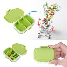 цена на 3 Grids Portable Pill Box Medicine Jewelry Storage Holder Case Container Medicine Storage Organizer Container Case