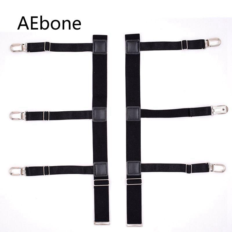 AEbone Mens Suspenders For Shirts Holder Women Men Shirt Stays Garters Straps Crease-Resistance Belts 2Pairs Sus46